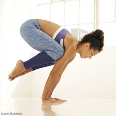 Learn how to come into Bakasana, Crow Pose.