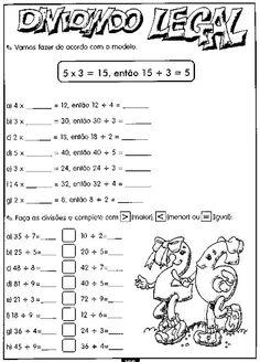 Passos da Divisão     1 ⁰  passo    Divisão exata, com um numeral no quociente.      16 : 2= 8   24 : 3= 8   72 : 8= 9...