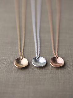 Gioielli collana ciondolo fatto a mano - scegliere da argento, oro pieno, riempito di Rose oro - di Burnish di burnish su Etsy https://www.etsy.com/it/listing/211443896/gioielli-collana-ciondolo-fatto-a-mano
