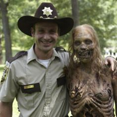 Andrew Lincoln & A Zombie Extra
