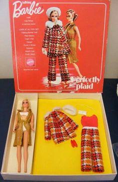 1971-72 Talking Barbie - Perfectly Plaid Gift Set (Sears) #1193