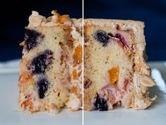 Nectarine-Blueberry Cake w Caramel Frosting-----For the sweet in your family