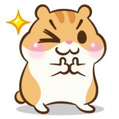 Chloe the hamster – Stickers LINE Goofy Drawing, Cute Bear Drawings, Cute Food Drawings, Kawaii Drawings, Easy Drawings, Cute Kawaii Animals, Super Cute Animals, Totoro Drawing, Doodles Kawaii