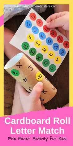 Cardboard Roll Letter Match Puzzle for Kids - Taming Little Monsters