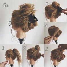 "Er ist Vertreter eines Friseursalons ""Hair Atelier nico …"" in Takadanobaba … - Modetrends Messy Hairstyles, Pretty Hairstyles, Coiffure Hair, Cute Buns, Hair Arrange, Hair Setting, Pinterest Hair, Love Hair, Hair Dos"