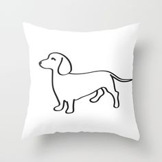 Doxie Love Throw Pillow