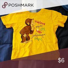 Curious George t-shirt size 24m Kids curious George shirt curious George  Shirts & Tops Tees - Short Sleeve