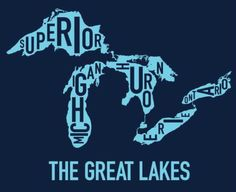 A neat graphic of the Great Lakes