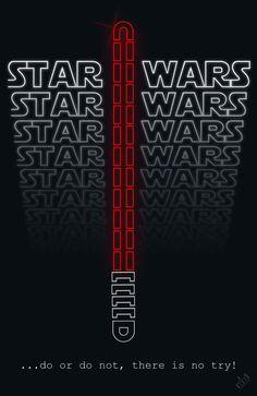 Star Wars Text Poster byMark Rasbach