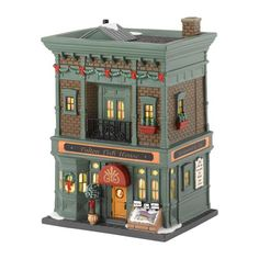 Department 56 Christmas in the City Village Fulton Fish House Collectible Figurine Department 56 Christmas Village, Lemax Christmas Village, Lemax Village, Christmas Villages, Christmas Houses, Farm Village, Victorian Christmas, Vintage Christmas, Christmas In The City