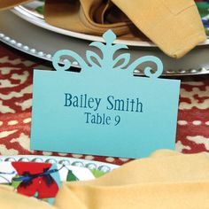 Use this place card in an elegant or fun table setting. Use them as escort cards or just a simple place card.