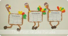 """Comp--Beginning, Middle, End w """"The Great Turkey Race."""" Activity by Cara Carroll @ The First Grade Parade"""