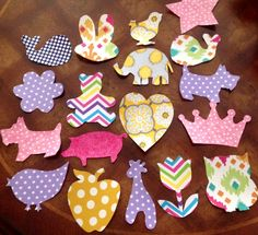 30 Assorted Baby Girl Iron-on Appliques for by LoveDoveBabyDesigns