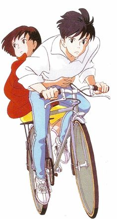 """Whisper of the heart."" Hayao Miyazaki ,Love this movie and just about every other one he's made"