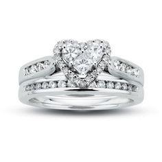Engagement Ring Heart Shape Halo Pave Bridal Set Es1094hsbs Jewels Pinterest Sets Shapes And