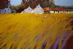 Pastel Landscape, Abstract Landscape Painting, Abstract Watercolor, Landscape Art, Landscape Paintings, Art Pastel, Pastel Drawing, Pastel Paintings, Chalk Pastels