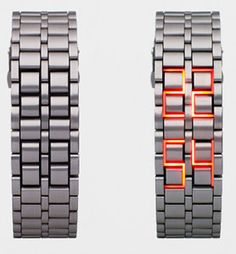 Faceless LED Watch, be interesting to wear but explaining it constantly would get to me...