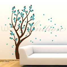 Vinyl Wall Decal Tree Wall Sticker  Tree with by WallDefinition, $68.00