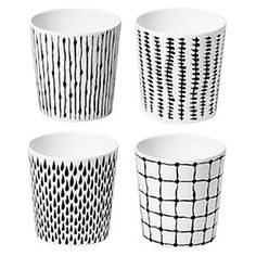 Design House Stockholm // Catharina Kippel Bono Mugs, Set of 4