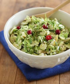 Shaved Brussels Sprouts Fruit Salad