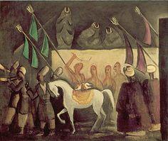 Jāzeps GROSVALDS | Latvian | Latvia 1891 –  Paris, France 1920 | Post-Impressionism, Modernism. Persian Motive