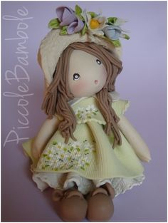 bambola..porcellana fredda, pasta di mais.