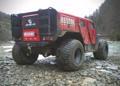 Beasts on Wheels, the Romanian off road Fire & Rescue vehicle made by Ghe-O Motors, it is 17 feet long and 9 feet wide.