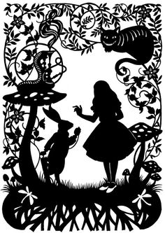 Alice+in+Wonderland+Paper+Cutting+by+CutsByDeborah+on+Etsy