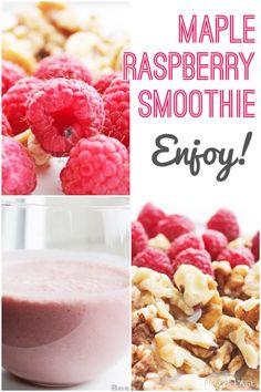 Maple Raspberry #smoothie