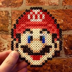 Mario hama beads, Perler beads, bead sprites by Perler Beads, Hama Beads Mario, Fuse Beads, Perler Bead Templates, Perler Patterns, Pixel Art, Hama Art, Nerd Crafts, Iron Beads