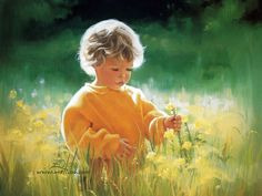 children in paintings by Zolan | ... Zolan children painting, art, children, Donald Zolan, grass, painting