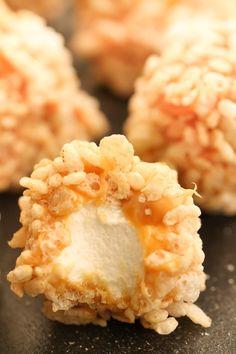 Caramel Marshmallow Rice Krispie Balls – Six Sisters' Stuff