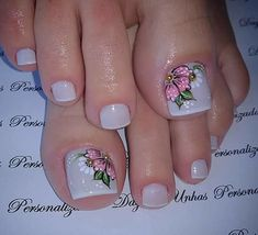 - All For Hair Color Trending Pretty Toe Nails, Cute Toe Nails, Cute Nail Art, Pedicure Nail Art, Nail Manicure, Feet Nail Design, Toenail Art Designs, Summer Toe Nails, Feet Nails