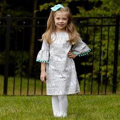 Girls Reindeer Gray Dress