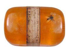 "Fantastic idea - ""amber"" glycerin soap w/ insect."