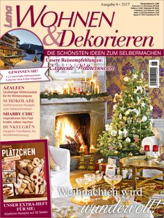 Vier tolle Gewinnspiele und viel Weihnachts-DIY locken in den aktuellen Ausgaben von Lena Wohnen & Dekorieren, Lena Wohnen, Anna und Mollie Makes! Shabby, Vintage Stil, Advent, Christmas Tree, Inspiration, Holiday Decor, Winter, Home Decor, Lilac