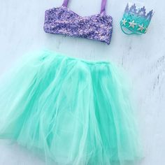 """765 Likes, 43 Comments - www.bellethreads.com (@bellethreads) on Instagram: """"Mermaid Perfection! 💚💜 Loving our sequin shell tops and full tutus 😍😍😍 You can purchase the top and…"""""""