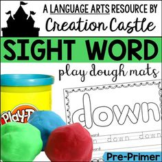 Sight Word Play Dough Mats - Pre-Primer These sight word cards are a great tool to use all year long! Students will work on mastering their sight words and build fine motor skills in the process!