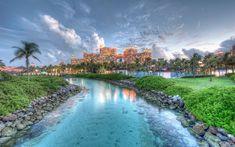 Download wallpapers Namsau, 4k, resort, sunset, HDR, Bahamas