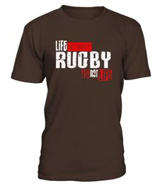 Life Without Rugby Is Not Life   Womens T Shirt by American Apparel  #gift #idea #shirt #image #music #guitar #sing #art #mugs