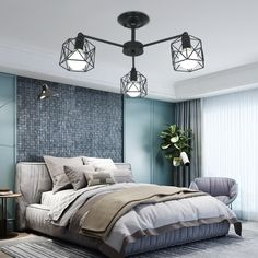 This special design bird cage lamp, it's full of art, you can purchase it from Homelava.com to decorate your house or office. Contemporary Pendant Lights, Modern Chandelier, Pendant Lamp, Pendant Lighting, Made To Measure Curtains, Iron Decor, Bedroom Lighting, Bird Cage, Light Decorations