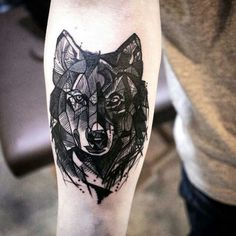 Wolf tattoo: meaning and interesting ideas - tattoo - # . - Wolf tattoo: meaning and interesting ideas - Wolf Tattoos, Forearm Tattoos, Animal Tattoos, Body Art Tattoos, Sleeve Tattoos, Trendy Tattoos, Small Tattoos, Tattoos For Guys, Wolf Tattoo Design