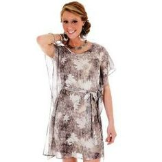 Wrangler Ladies Floral Print Bell Sleeve Dress - This sexy flowy dress by Wrangler is one knock-out little number! With a easy to wear silhouette, you will appreciate the flowing hem and breezy sleeves. The all-over print echoes python and flowers, for a little sass! Find it at bigronline.com #bigR #wrangler #spring #dress