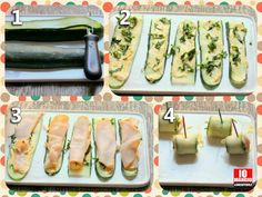 [CONTORNI] Rotolini di #zucchine grigliate con prosciutto cotto