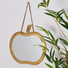 Brass Apple Mirror - available from MiaFleur