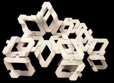 Z-Rose is a smart module that evolved from penrose tiling and interlocking chains. It has interlocking connections allowing it to form asymmetrical petterns. It is essentially a interlocking penrose. Module Architecture, Contemporary Architecture, Architecture Details, Tessellation Patterns, Tile Patterns, 80s Design, Design Art, Interior Design, Penrose Tiling