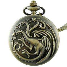 Collar largo reloj Casa Targaryen de Juego de Tronos