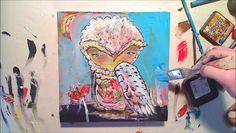 HOW TO PAINT AN OWL. an online course with Juliette Crane. find details and register here: http://juliettecrane.com/workshop/index.shtml