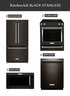 This post is part of a paid collaboration with Lowe's Home Improvement. It has been a while since I've shared an update on the Riverside Retreat kitchen (we've … Kitchen Aid Appliances, Kitchen Appliance Storage, Stainless Kitchen, Stainless Appliances, Wall Oven Microwave Combo, Built In Dishwasher, Black Cabinets, House Made, Kitchen On A Budget