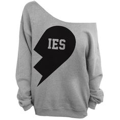 Besties - Best Friends Gray Slouchy Oversized Sweatshirt - IES ($29) ❤ liked on Polyvore featuring tops, hoodies, sweatshirts, shirts, sweaters, sweatshirt, jersey shirts, loose shirts, gray shirt and slouchy sweatshirt